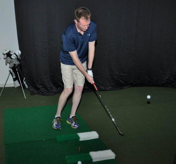 golfing indoors
