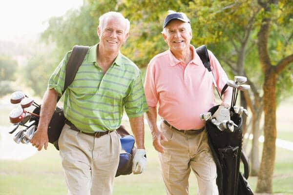 Two Golfers walking